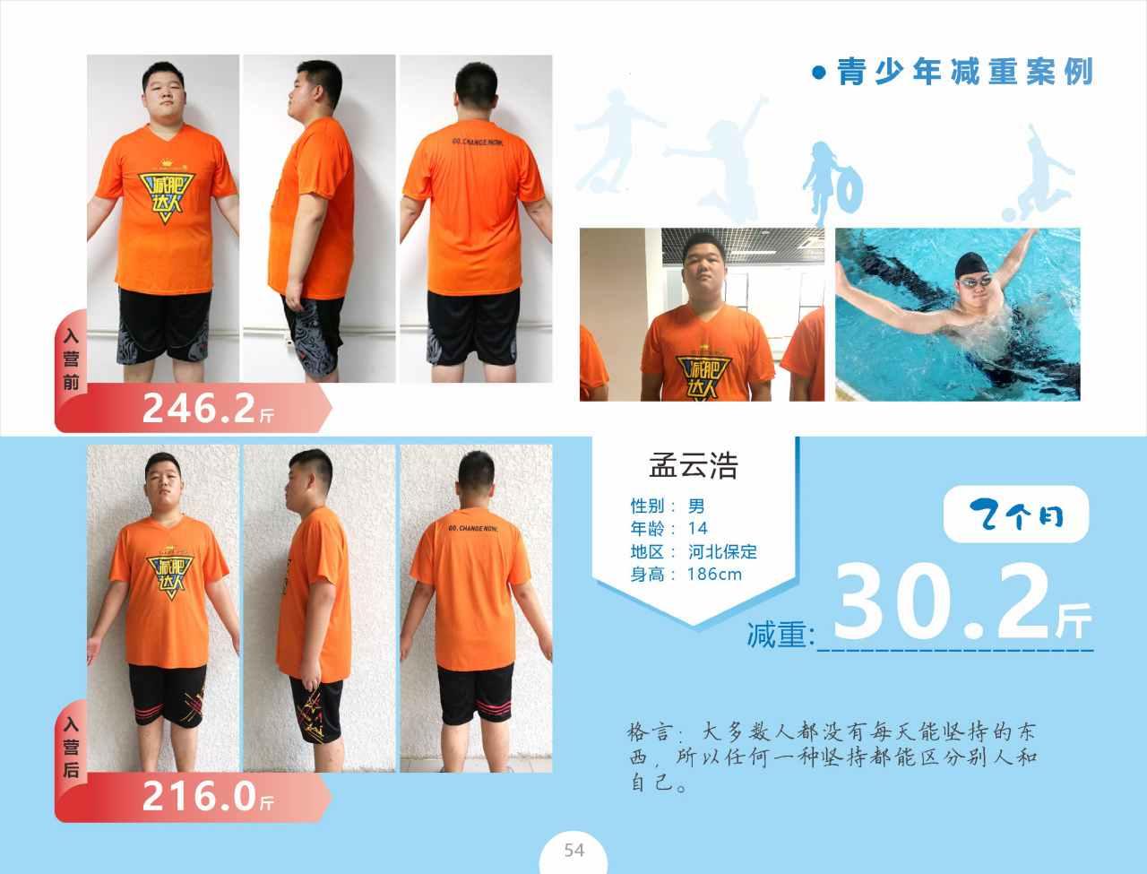 青少年减肥案例孟云浩减重30.2斤
