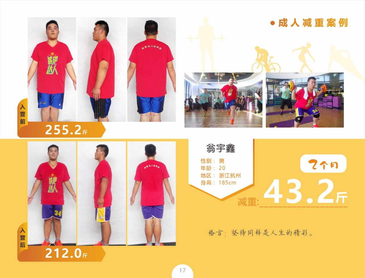 成人减肥案例翁宇鑫减重43.2斤
